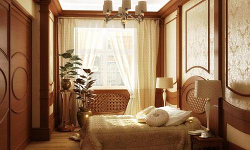 Пример ориентации окон в спальне