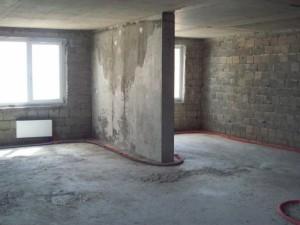 Вид новой квартиры до ремонта