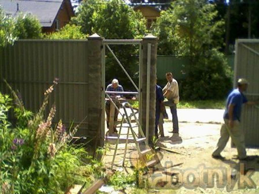 Устанавливаем ворота с чего начать ворота с электроприводом цена