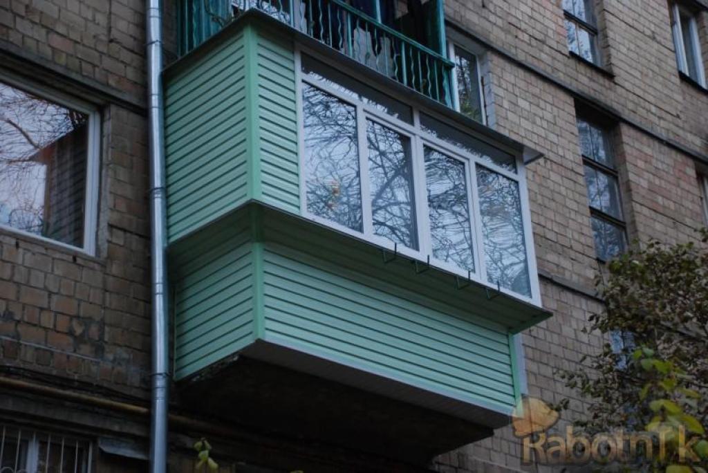 """Как может выглядеть ваш балкон или лоджия снаружи.. """"евроокн."""