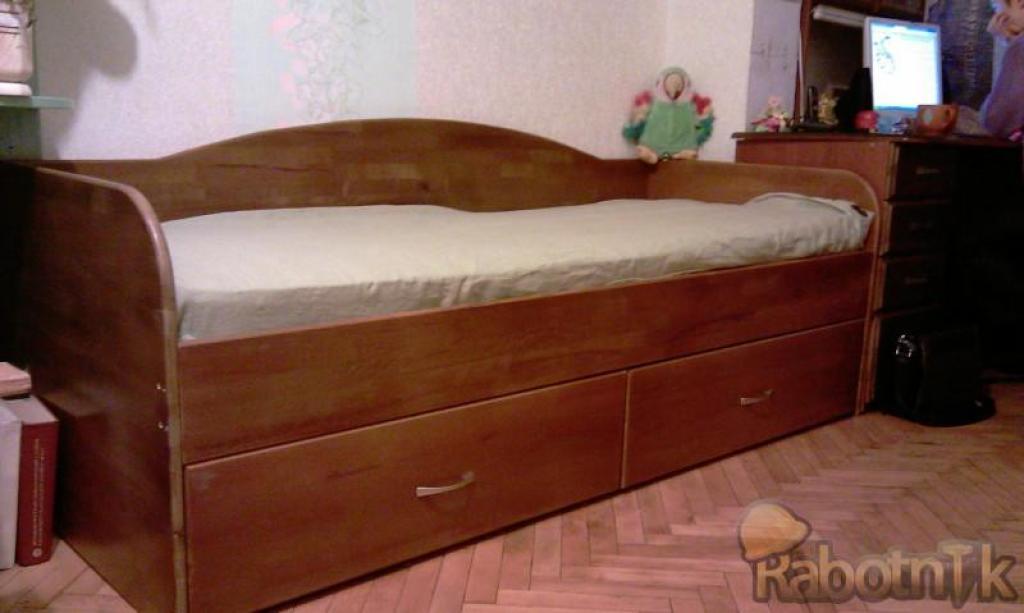 Высокая кровать с ящиками своими руками 74