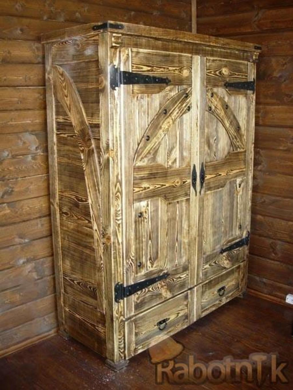 Как сделать шкаф из дерева под старину.