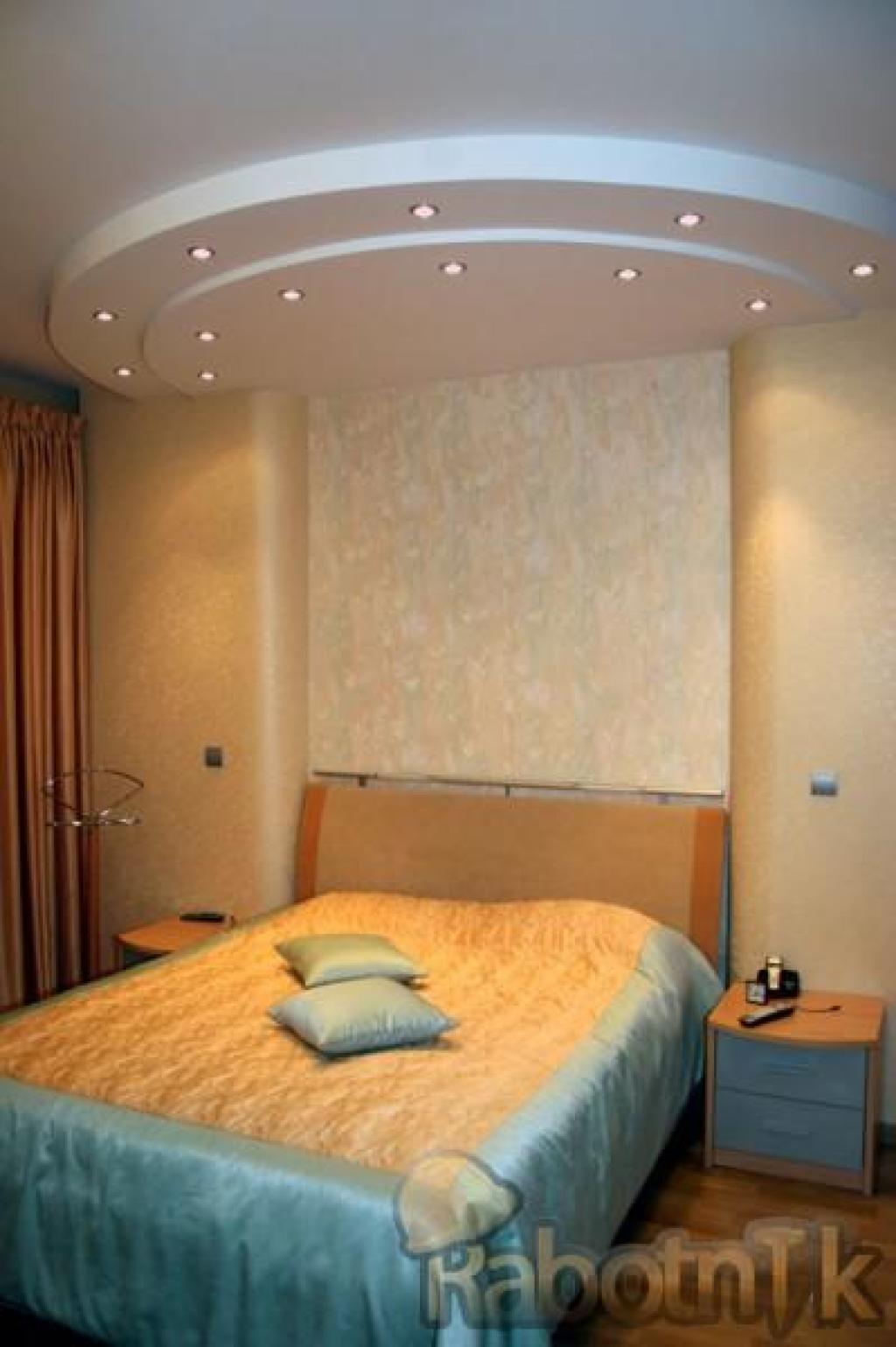 Как сделать потолок для спальни из гипсокартона своими руками