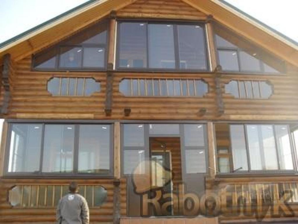Застеклить балкон в деревянном доме фото.