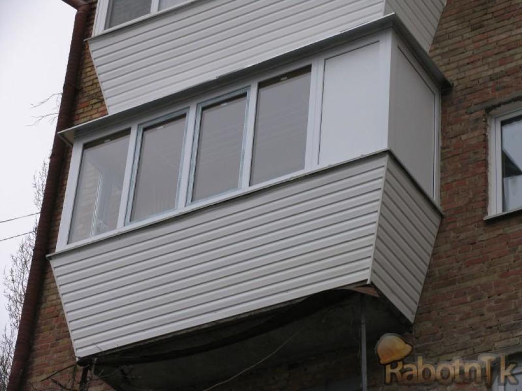 Балкон с выносом, заказать вынос на балконе, заказать балкон.