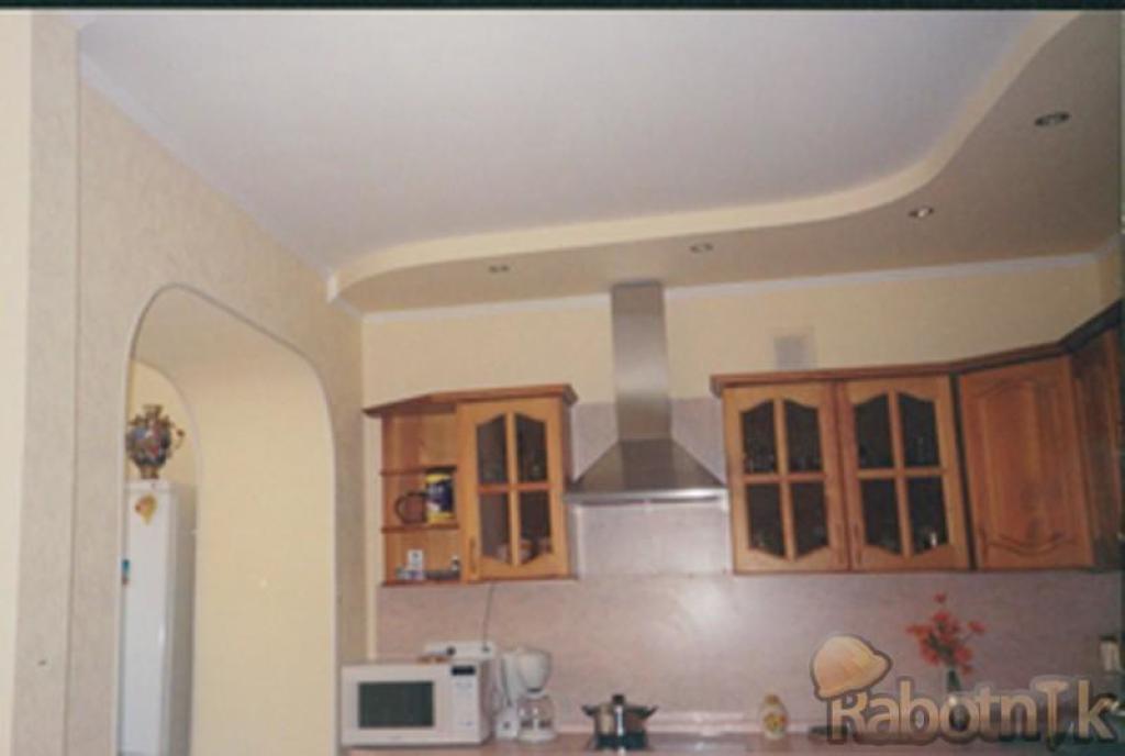 Как на кухне сделать потолок из гипсокартона своими руками
