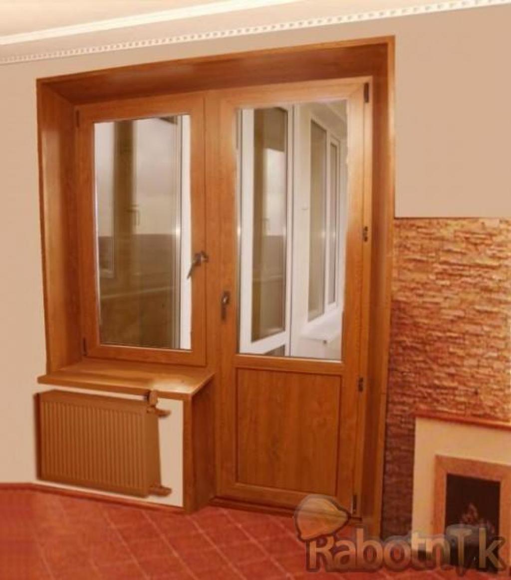 Ламинированные двери пвх для балконов от 13000.00 руб. от ко.