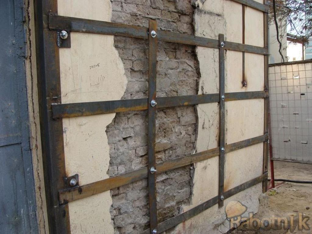 Укрепление наружных стен.