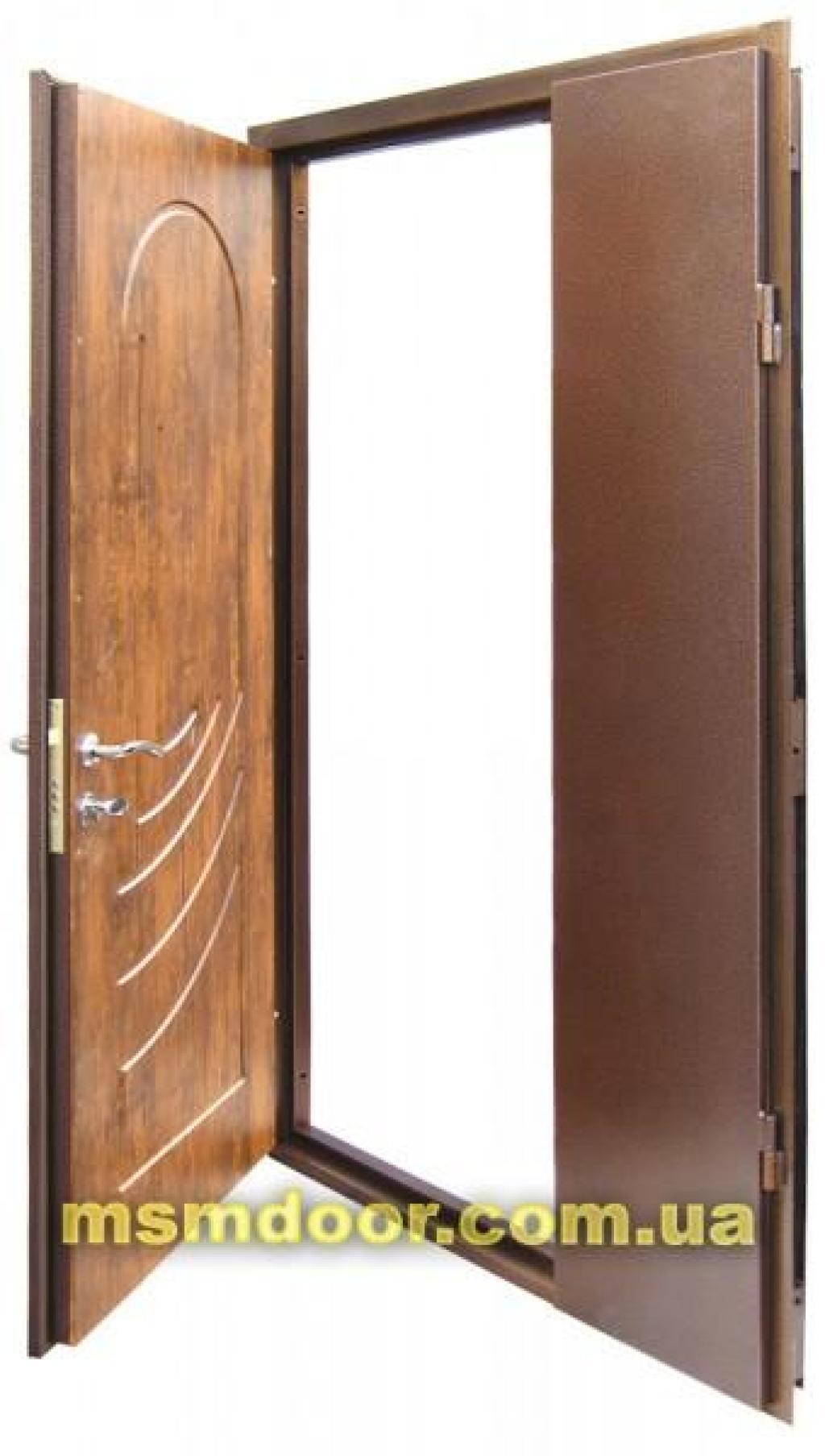 двустворчатые металлические двери от производителя