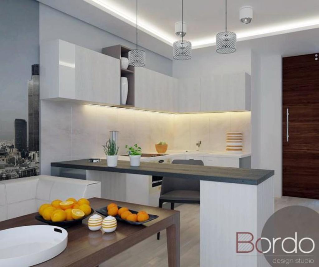 Дизайн кухни-студии 25 кв.м
