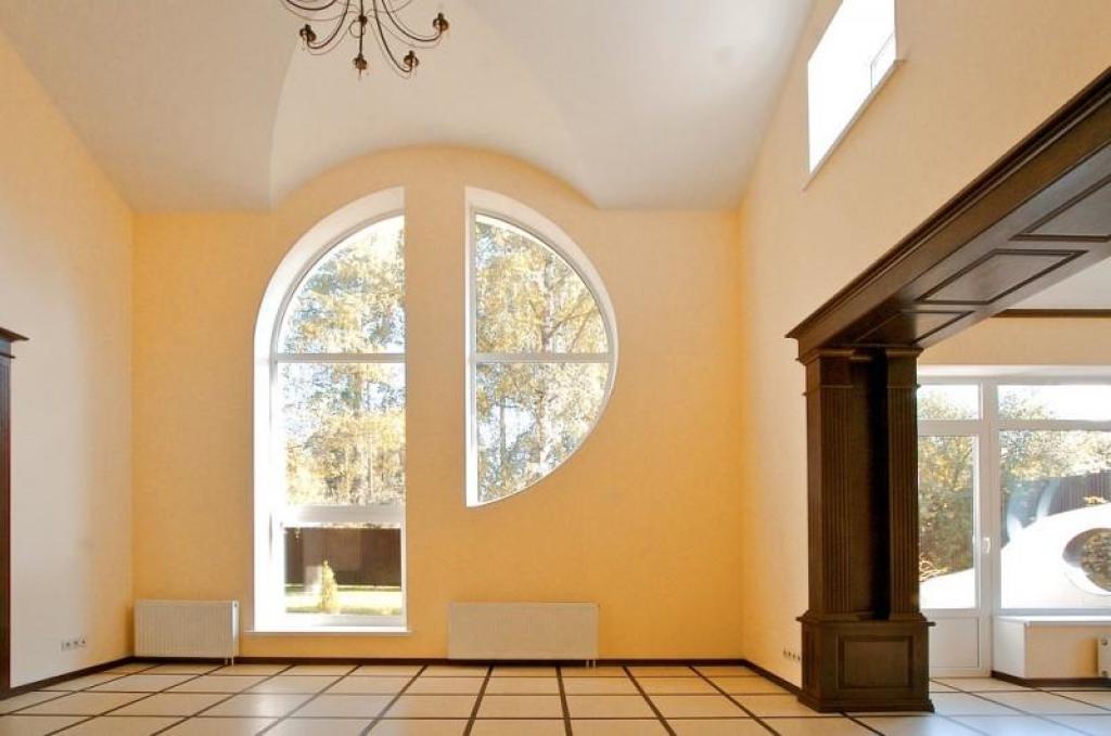 Заказать арочные окна, круглые окна, треугольные окна, шпрос.