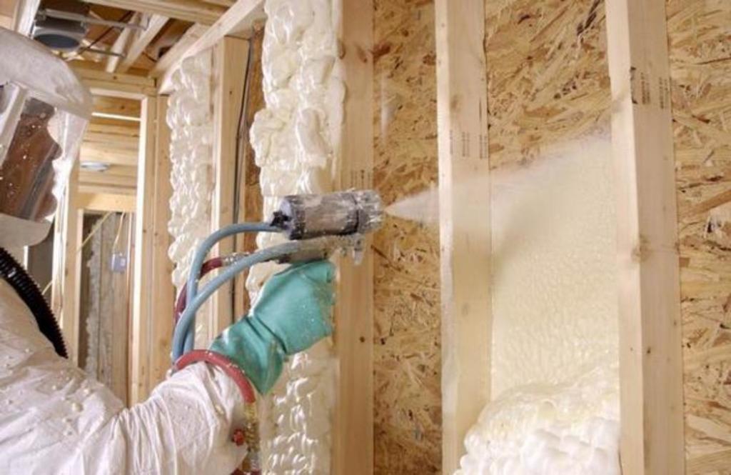 Утепление полиуретаном стен дома и других поверхностей: техн.