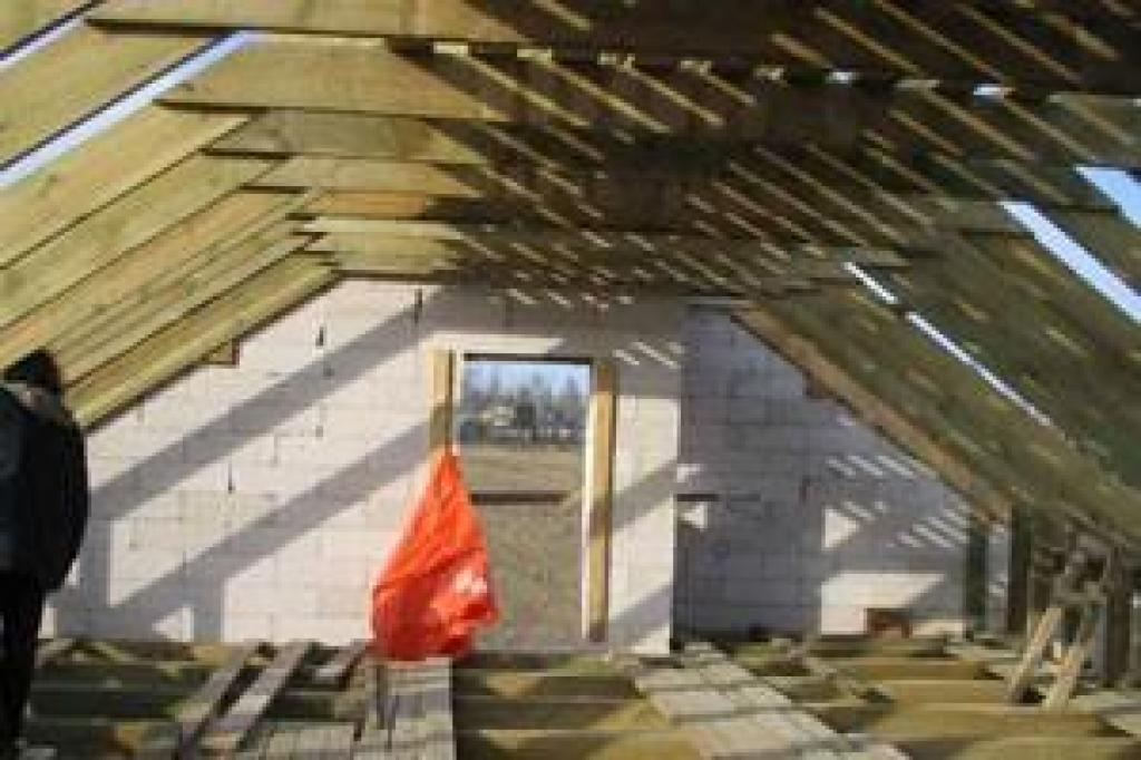 Крыша на газосиликатные блоки своими руками
