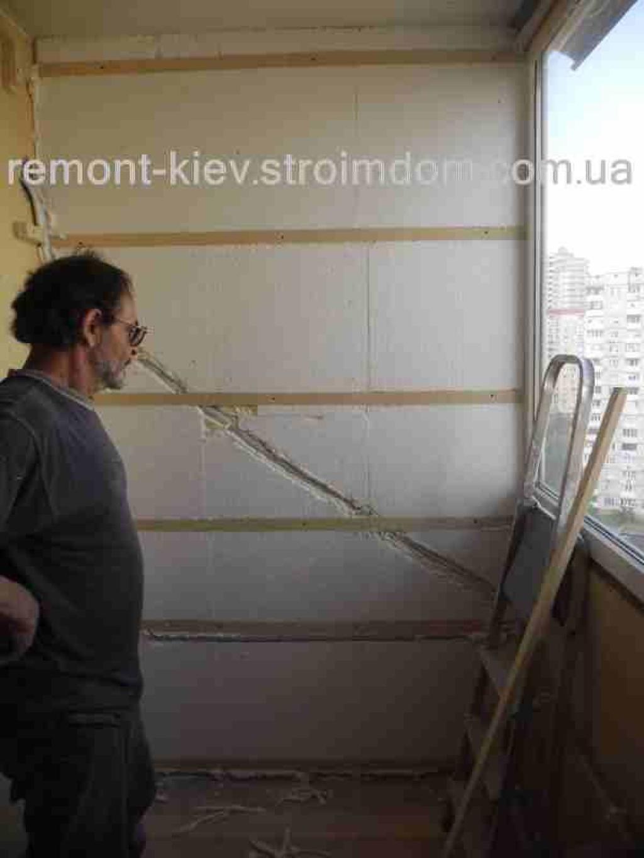 Внутренняя отделка балкона. киев. - примеры работ бригады ба.
