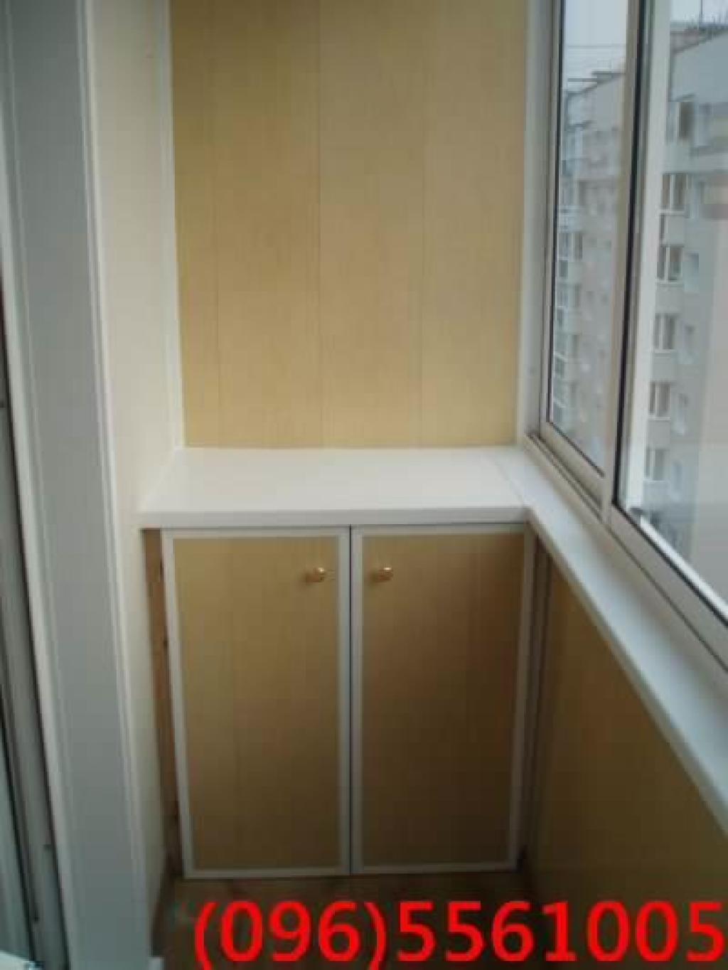 Фото: шкаф из дверей жалюзи. оздоблювальні роботи, київ, тро.