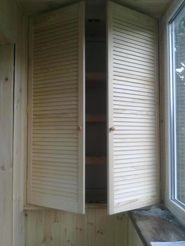 Деревянные дверцы для шкафов на балкон - шкаф из дверей жалю.