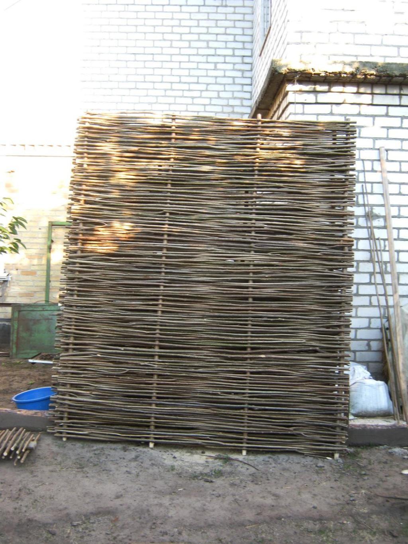 плетенка из лозы на забор купить