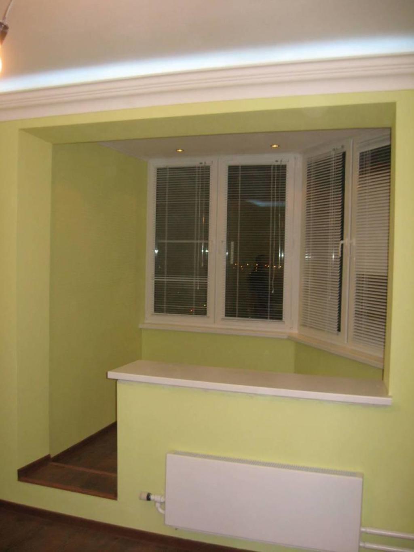 Европластика - европластика - совмещение балкона и комнаты.
